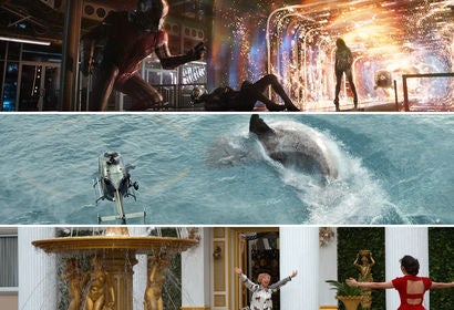 "Scenes from ""Ant-Man and the Wasp"", ""The Meg"" and ""Crazy Rich Asians"""