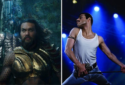 "Scenes from ""Aquaman"" and ""Bohemian Rhapsody"""
