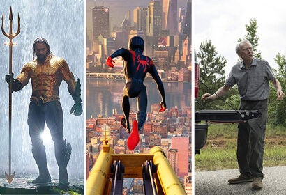 "Scenes from ""Aquaman"", ""Spider-Man: The Spider-Verse"" and ""The Mule"""