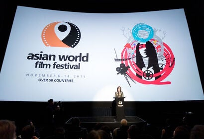 Asian World Film Festival Co-founder Asel Sherniyazova attends the Opening Night For the 5th Annual Asian World Film Festival on November 6, 2019 in Culver City, California.