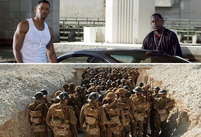 "Scenes from ""Bad Boys for Life"" and ""1917"""