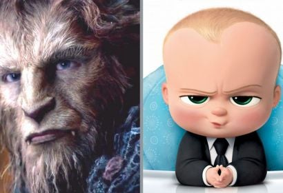 """Beast from """"Beauty and the Beast"""" and The Boss Baby"""