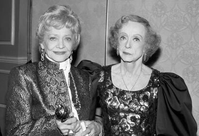 Bette Davis and Sylvia  Sidney, Golden Globes 1986