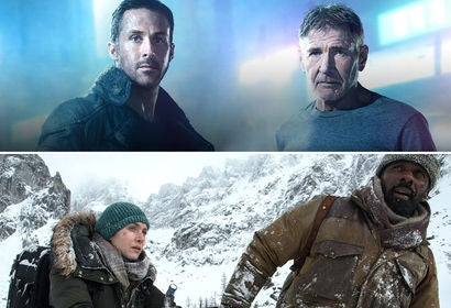 "Scenes from ""Blade Runner 2049"" and ""The Mountain Between Us"""