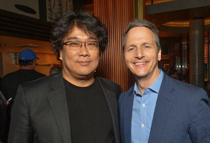 Filmmaker Bong Joon Ho and Neon president Tom Quinn, 2019