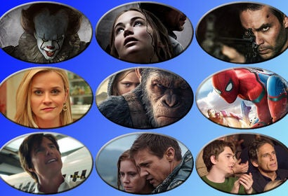 "Scenes from ""It"", ""mother!"", ""American Assassin"", ""Home Again"", ""War for the Planet of the Apes "", ""Spider-Man: Homecoming"" , ""American Made"", ""Wind River"" and ""Brad's Status"""