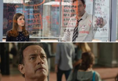 Anna Kendrick and Ben Affleck in The Accountant/Tom Hanks in Inferno
