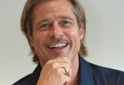 Actor and producer Brad Pitt, Golden Globe winner
