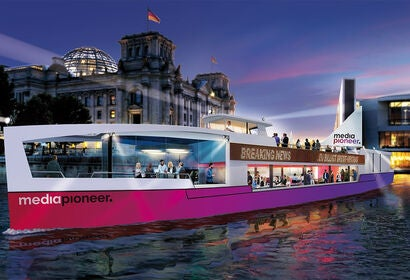 A cinema ship in Berlin, 2020