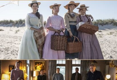 Scenes from Little Women and Knives Out