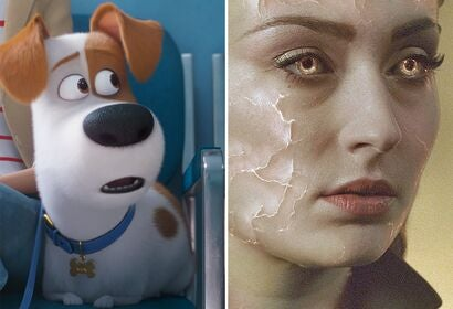 "Scenes from ""The Secret Life of Pets"" and ""Dark Phoenix"""
