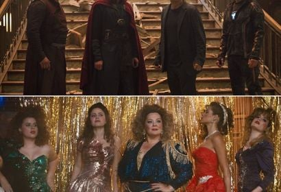 Scenes fom Avengers: Infinity War and Life of the Party
