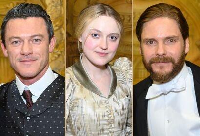 "Actors Luke Evans, Dakota Fanninf and Daniel Bruhl on the set of ""The Alienist - Angel of Darkness"""