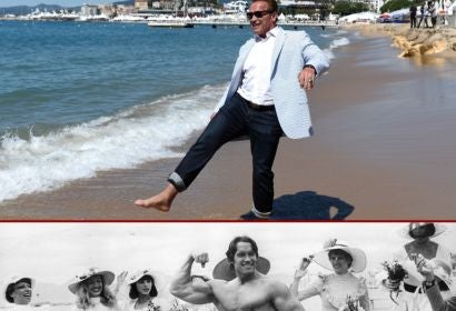 Arnold Schwarzenegger in Cannes: 2017 and 1977