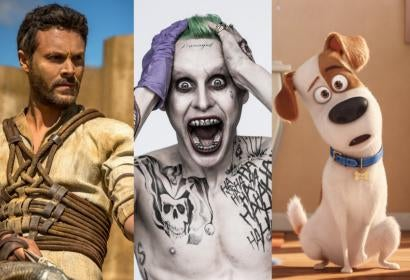 Scenes from the movies: Ben-Hur, Suicide Squad and The Secret Life of Pets