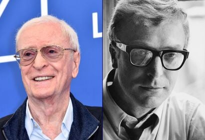 Michael Caine in Venice 2017 and London 1965