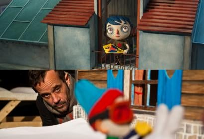 """A scene ftom """"My Life As a Zucchini"""" and director Claude Barras"""