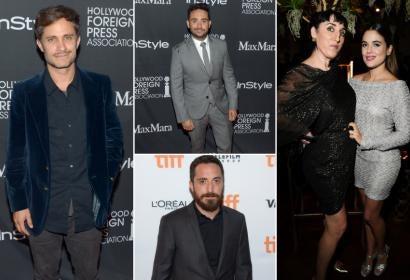 Golden Globe winner Gael Garcia Bernal, directors J. A. Bayona and Pablo Larrain, actresses Rossy de Oalma and Adriana Ugarte in Toronto 2016