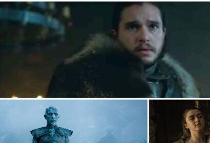 Kit Harington,Emilia Clarke and Maisie Williams in scenes from Game of Thrones s7