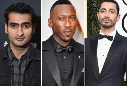 Actors Kumail Nanjiani, Mahershala Ali and Riz Ahmed