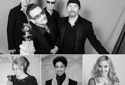 U2, Madonna, Prince, Adele at the Golden Globes