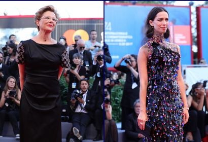 Annette Bening and Rebecca Hall at 2017 Venice