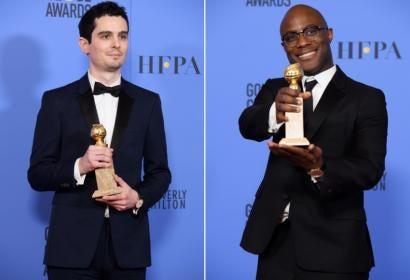 Directors Damien Chazelle and Barry Jenkins, Golden Globe winners