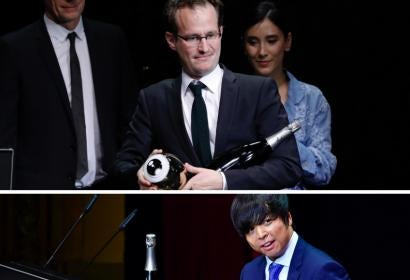 Directors Juho Kuosmanen and Jero Yun,w inners of the 12th Zurich Film Festivak