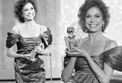 Actress and producer Mary Tyler Moore, Golden Globe winner