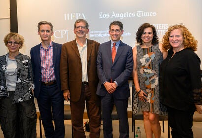 Panelists at the LA Press Freedom Week, 2019