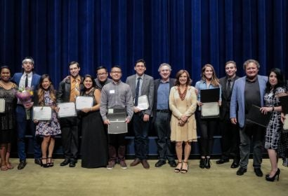 CSUN Cinema and Television Department of California State University of Northridge at the Writers Guild Theater. Winners of documentary and narrative shorts thesis projects from the graduating class of 2017.