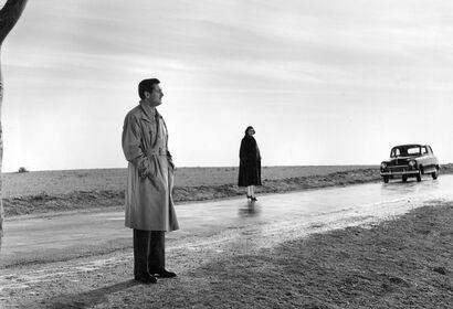 "A scene fom ""Death of a Cyclist"", 1955"