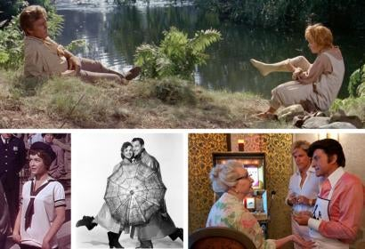 Debbie Reynolds in Scenes from The Unsinkable Molly Brown, Three Little Words, Singin' in the Rain and Behind the Candelabra