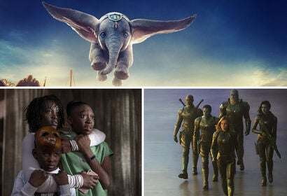 "Scenes from ""Dumbo"", ""Us"" and ""Captain Marvel"""