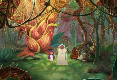 A scene from the animated  movie El LIbro de Lila