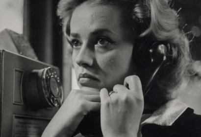 Jeanne Moreau in a scene from Elevator to the Gallows