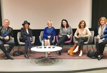Scott Orlin, Elisabeth Sereda, Moderator Mary Murphy, Marlene Von Arx, Silvia Bizio and Jenny Cooney Carrillo