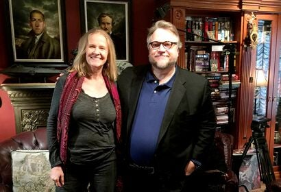 Writer Cornelia Funke and director Guillermo del Toro, Golden Globe winner