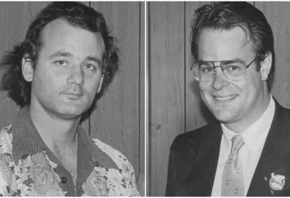 Dan Aykroyd and Golden Globe winner Bill Murray in 1984