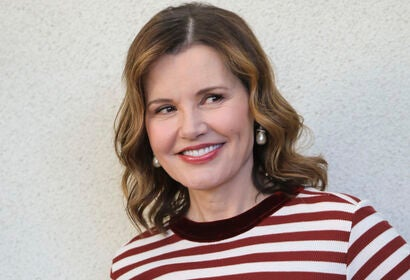 Actress Geena Davis, Golden Globe winner