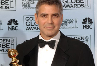 George Clooney, winner Golden Globe Supporting Actr 2006