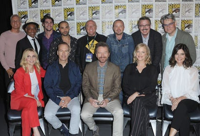 Cast and creator of the TV series Breaking bad at Comic-Con 2018
