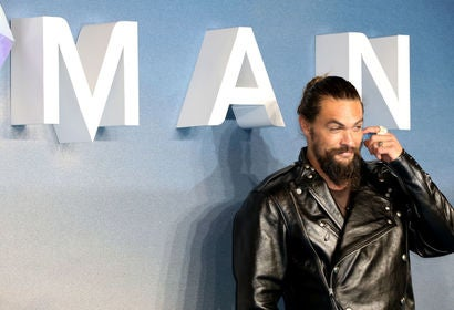 "Actor Jason Momoa at the premiere of ""Aquaman"", 2018"