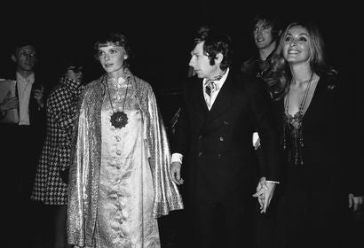 Mia Farrow, Roman Polanski and Sharon Tate in Cannes 1968