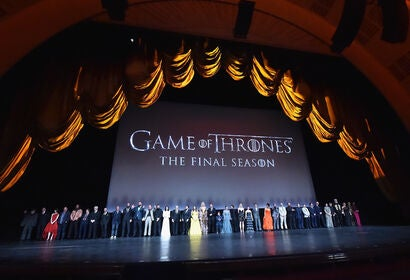 The cast of Game of Thrones at the s8 premiere, New York, 2019