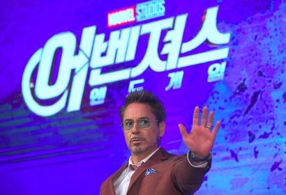 Actor Robert Downey Jr in South Korea