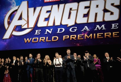 Cast and directors of Avengers: Endgame at the LA Premiere