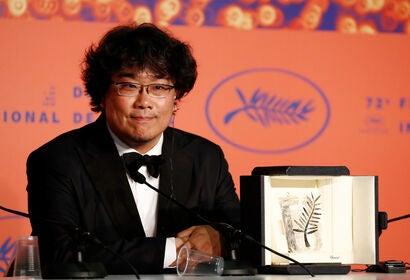 Director Joon-ho Bong, winner of the 72nd Cannes