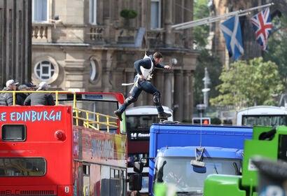 On location in Edinburgh, Scotland