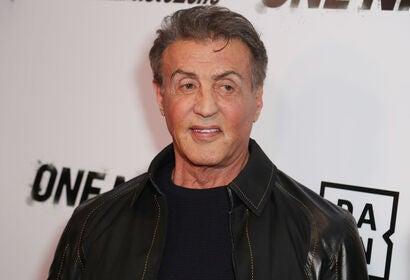 Actor, producer, writer Sylvester Stallone, Golden Globe winner